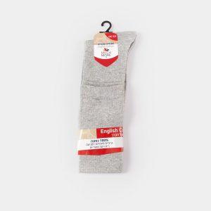 גרביים 100% כותנה אפור