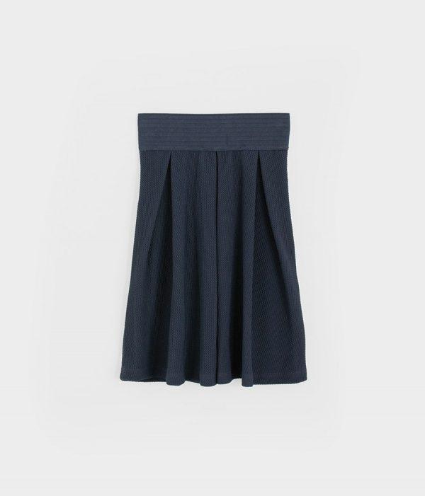חצאית פיקה גומי כחול