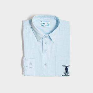 """חולצה אוקספורד ממ""""ד תכלת"""