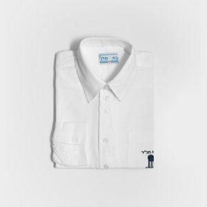 """חולצה אוקספורד ממ""""ד לבן"""