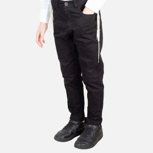 מכנס דריל שחור בלו וואיב