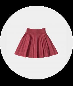 חצאית סריג ורודה